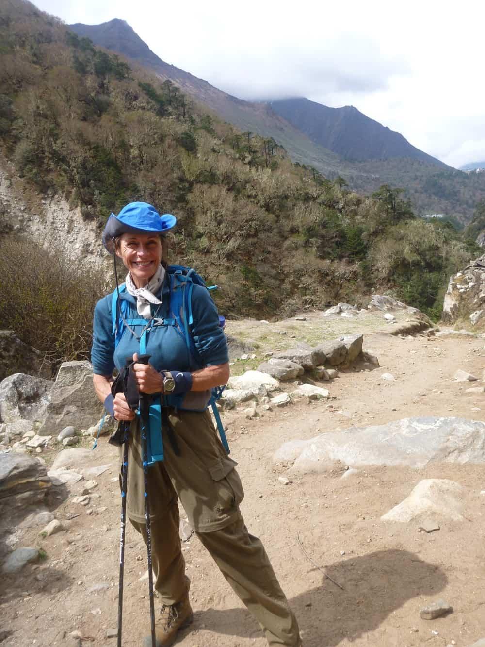Julia Hubbel hiking in Nepal